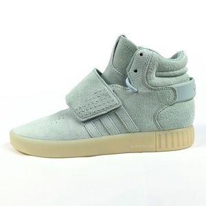 adidas Tubular Strap Vapor Green Suede Shoes 8